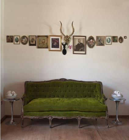 moss green couch