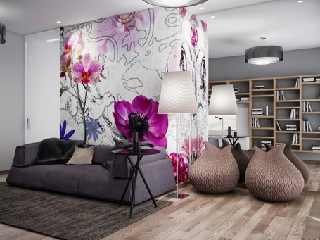 Living-Room-Interior-Designs-with-Purple-Flowers-Wallpaper-Murals-Ideas_beazley