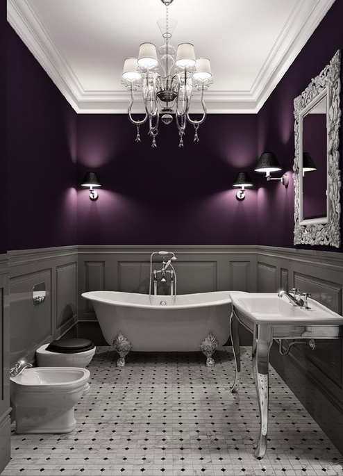 Purple in bathroom