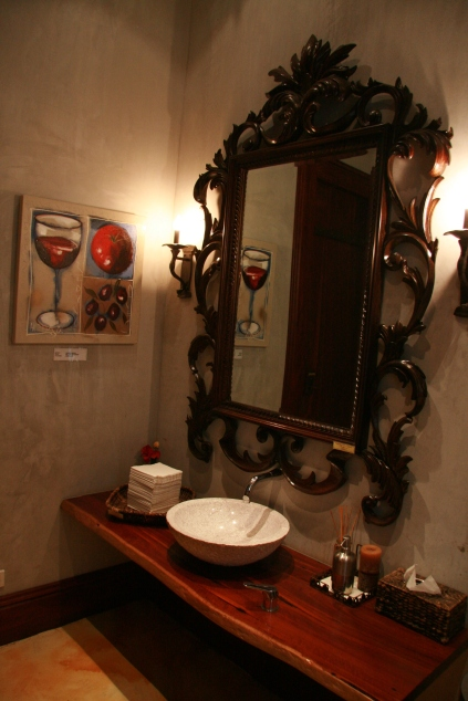 Winery bathroom