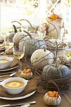 pumpkin table decoration